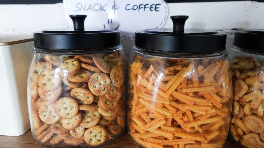 office snacks jars