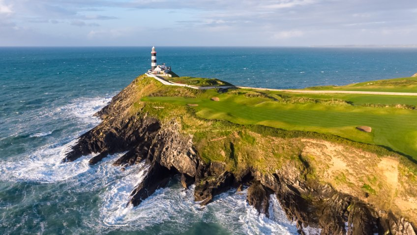 Old Head Golf Links course in Downmacpatrick, Kinsale, Co. Cork, Ireland