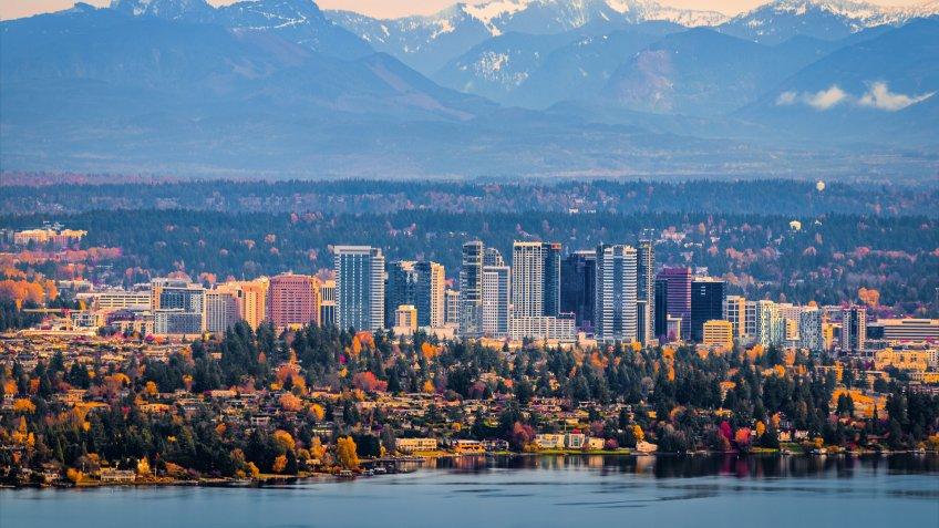 Bellevue Washington aerial view