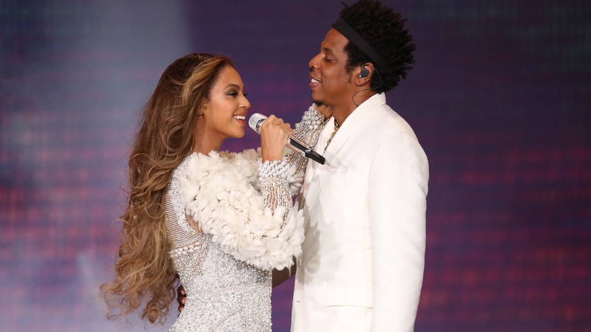 Beyonce and Jay-Z in concert,