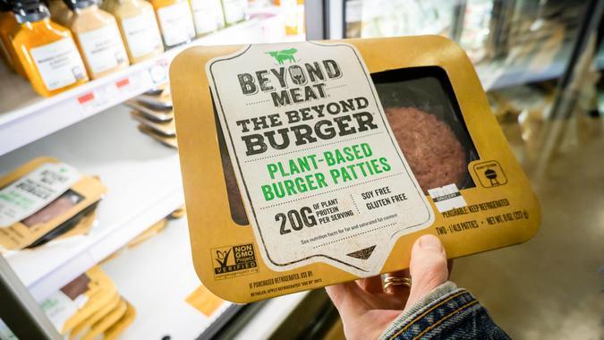 Beyond Meat plant based burger patties
