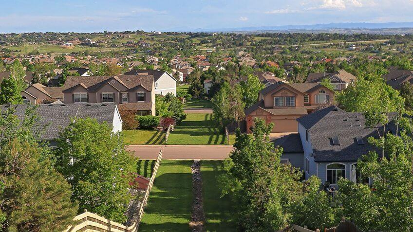 Centennial Colorado aerial view