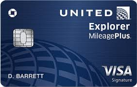 Chase United Explorer MileagePlus Card