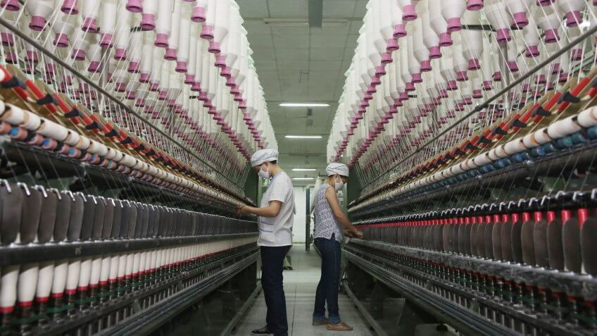 Chinese cotton spinning factory