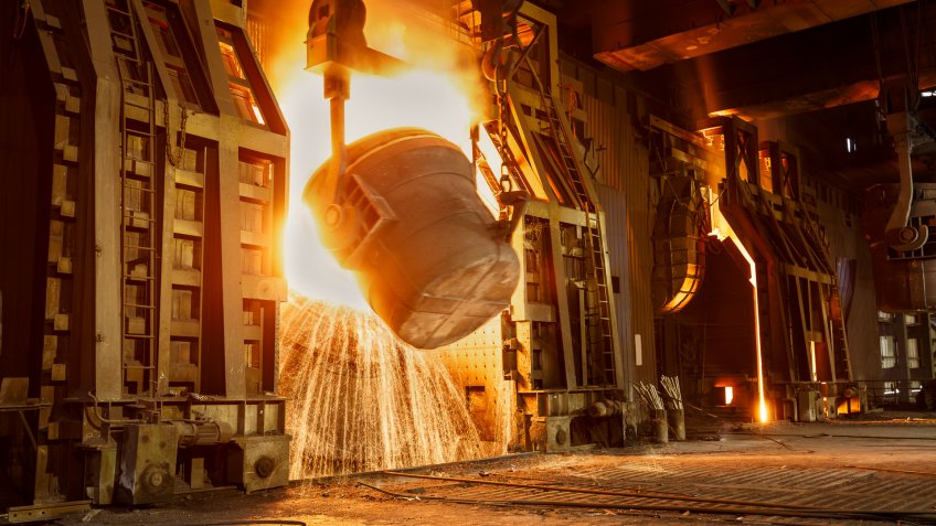 Chinese steel manufacturing factory