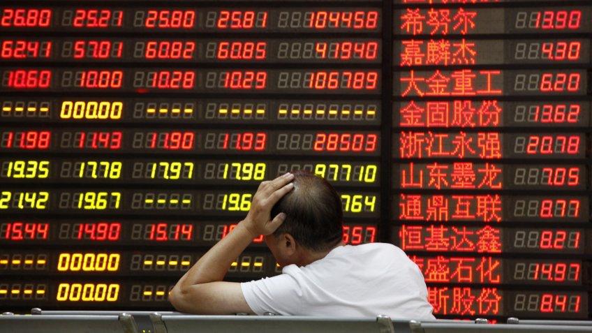 Chinese stock market board