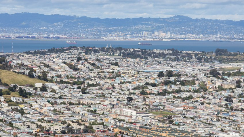 Daly City California aerial view
