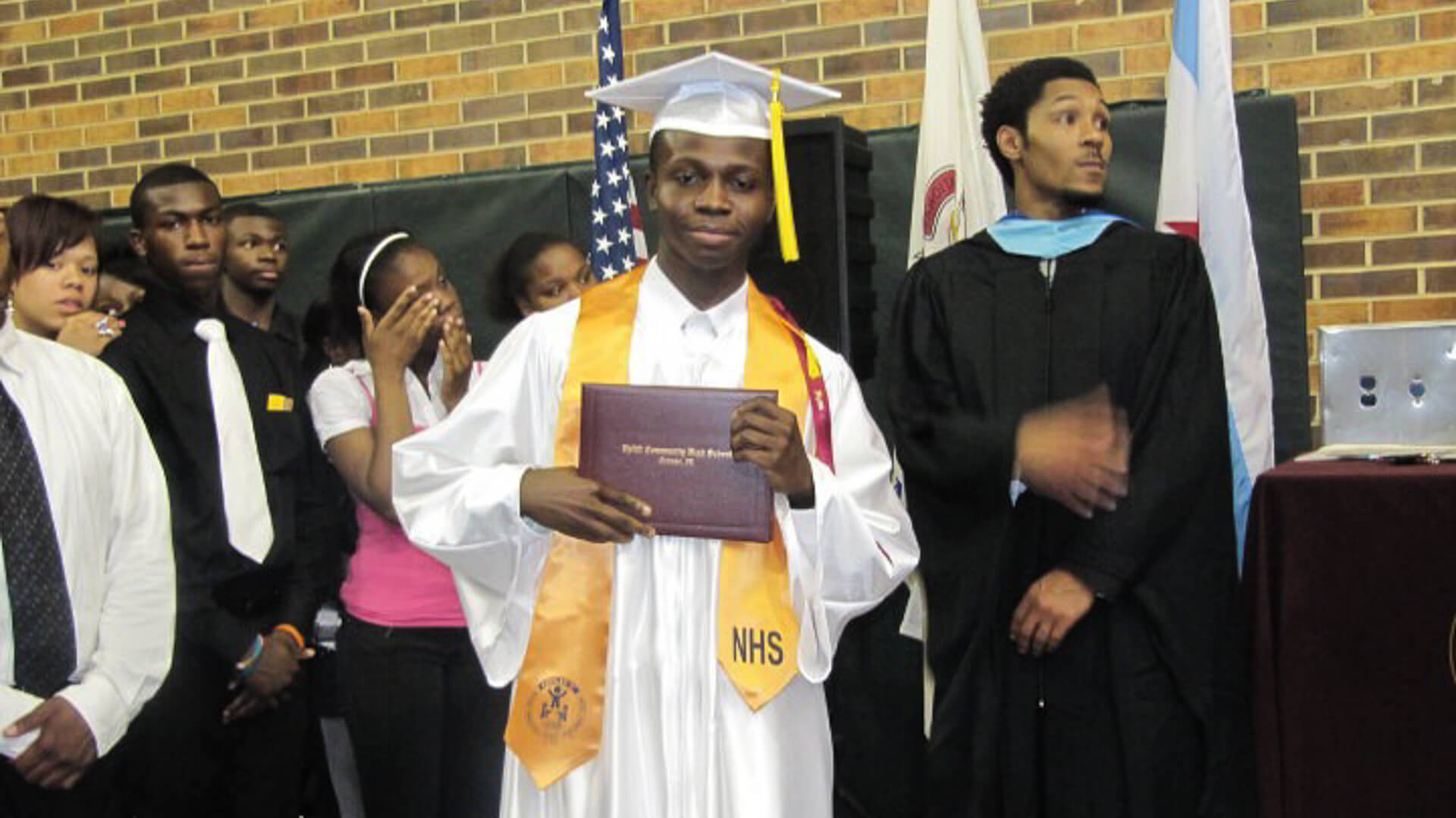 Jeff Badu graduating from National Honor Society