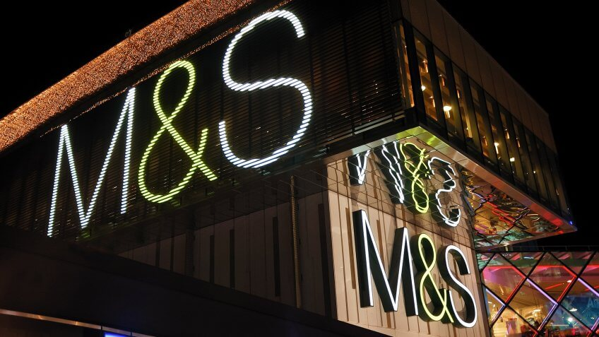 London, England - December 3, 2011: Marks & Spencer shop at Westfield shopping center.