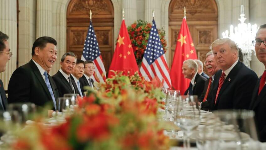Mandatory Credit: Photo by Pablo Martinez Monsivais/AP/Shutterstock (10237987a)Donald Trump, Xi Jinping.