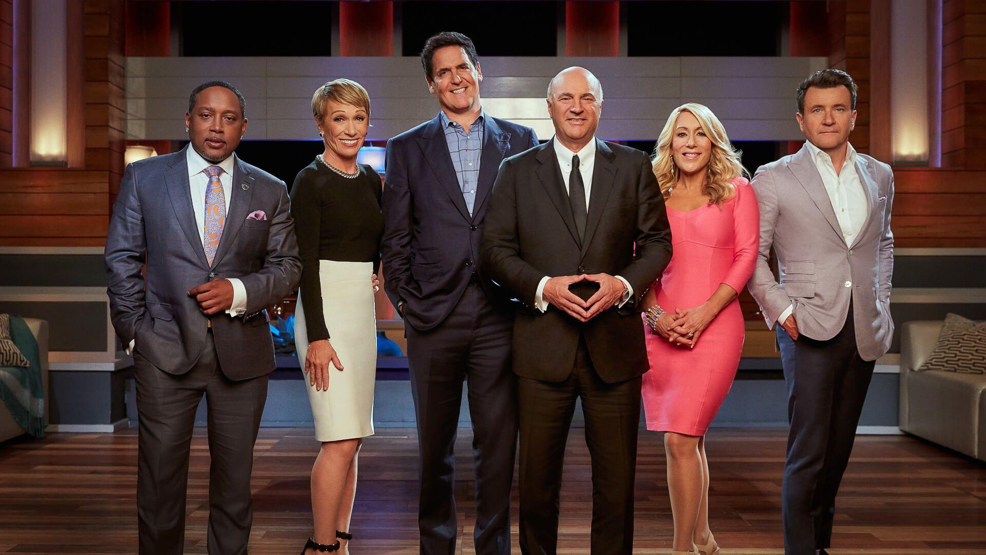"SHARK TANK Daymond John, Barbara Corcoran, Mark Cuban, Kevin O'Leary, Lori Greiner and Robert Herjavec are the ""Sharks"" on ABC's ""Shark Tank."