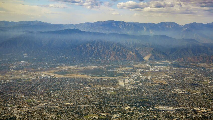 West Covina California aerial view