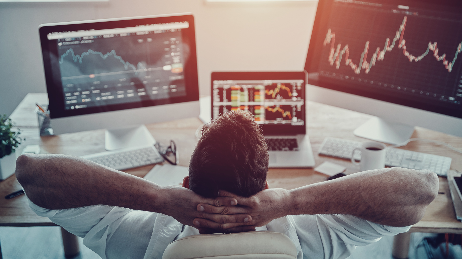 businessman evaluating most expensive stock