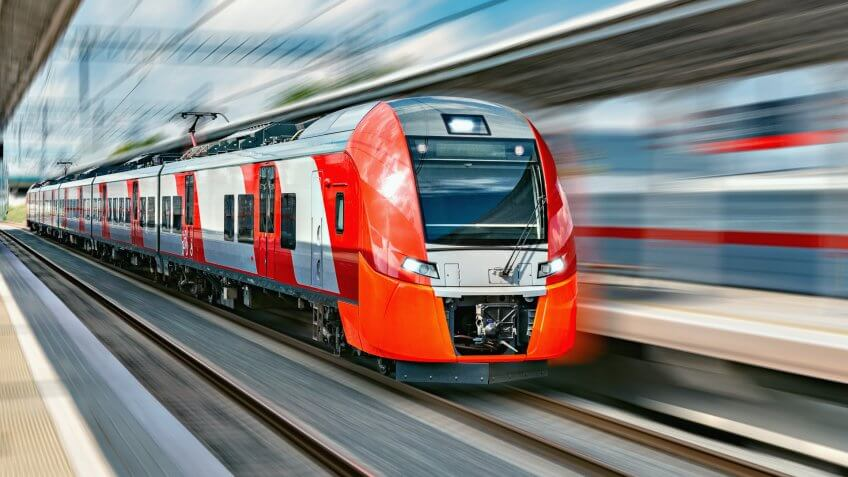 electric battery transportation train