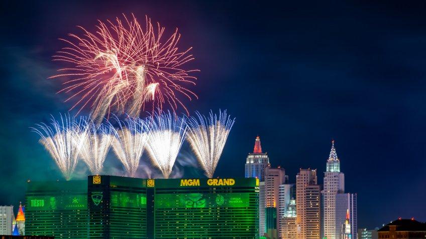 firework show in Las Vegas Nevada