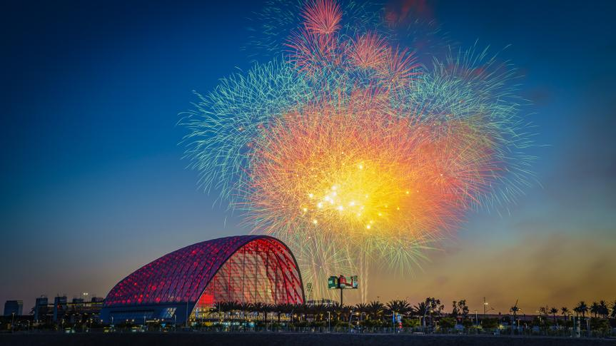 fireworks over Arctic in Anaheim California