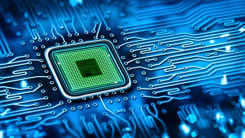 microchip integrated on motherboard.