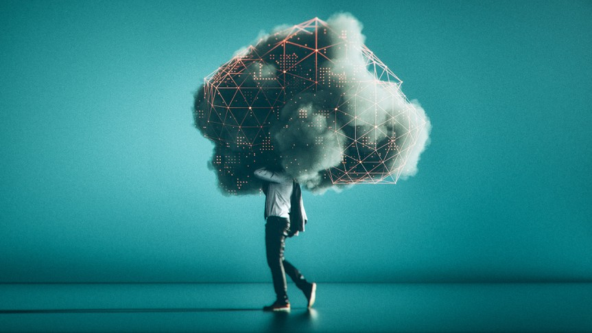 mobile cloud computing conceptual image.