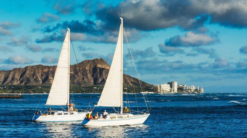 sailing in Honolulu Hawaii