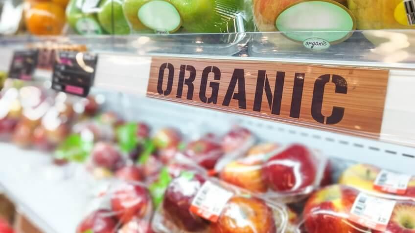 sustainable organic produce in market
