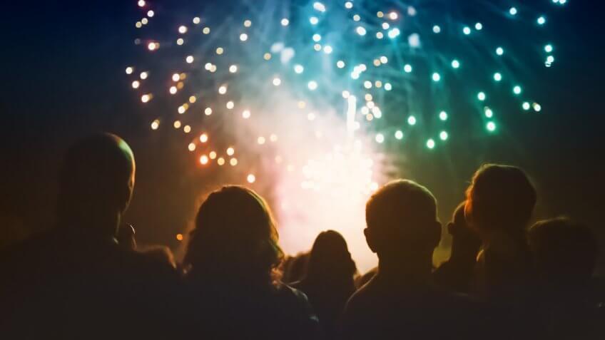 watching firework show