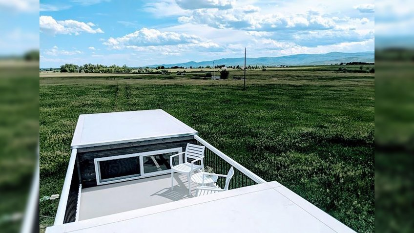 Roof Deck-Equipped Tiny Home in Fort Collins, Colorado rooftop deck