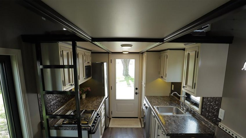 Handcrafted Tiny Home in Huntington, Indiana kitchen