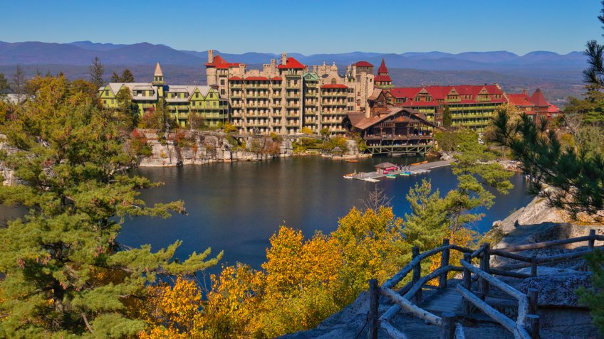 This image was taken at Mohonk Mountain House, NY in autumn.