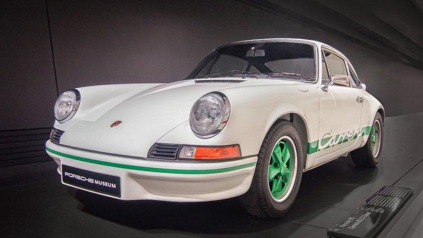STUTTGART, GERMANY-APRIL 7, 2017: 1973 Porsche 911 Carrera RS 2.