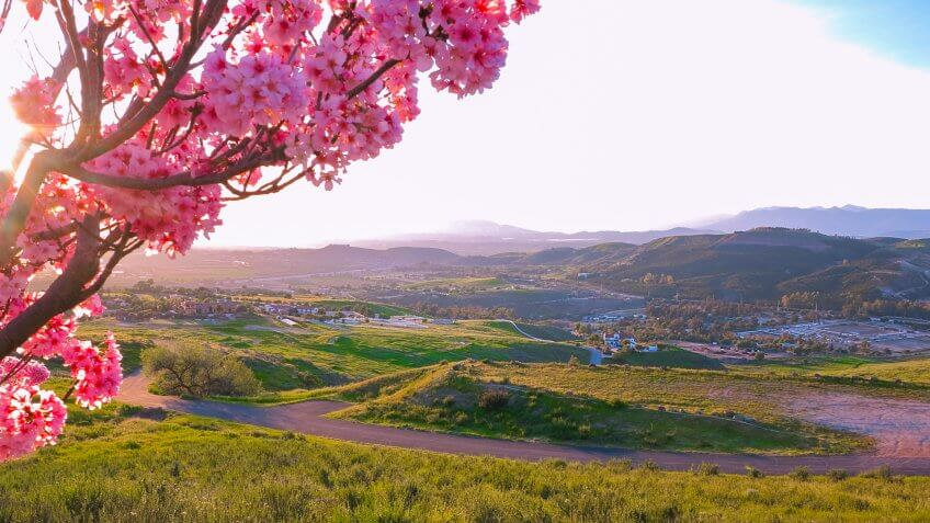 March photo with landscape in Simi Valley (California, USA).