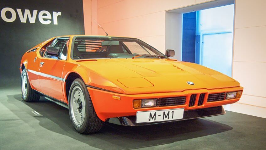 MUNICH, GERMANY-APRIL 8, 2017: 1978 BMW M1 in the BMW Museum.