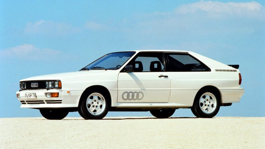Editorial use onlyMandatory Credit: Photo by Magic Car Pics/Shutterstock (4065217a)1980 Audi Quattro - road cars Publicity shotVARIOUS.