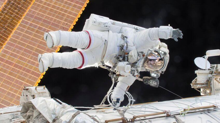 Astronaut Commander Scott Kelly space walking
