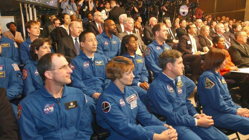 Astronauts and staffers of NASA