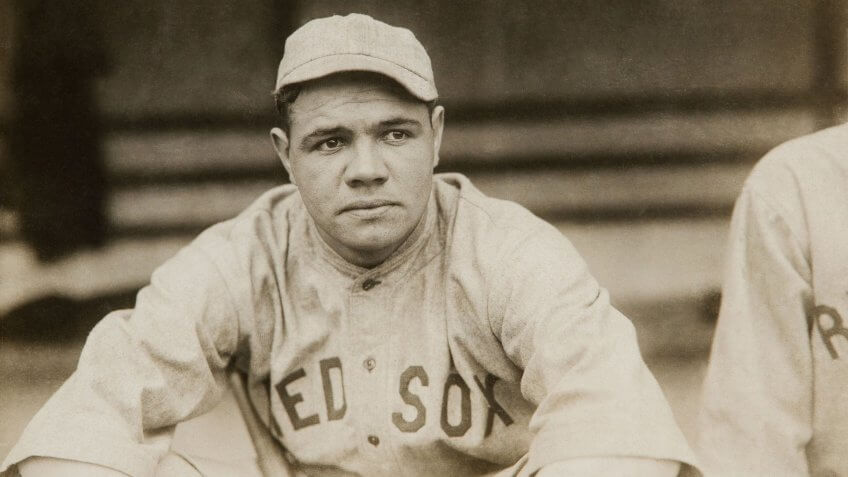 Babe Ruth Boston Red Sox highest paid athlete