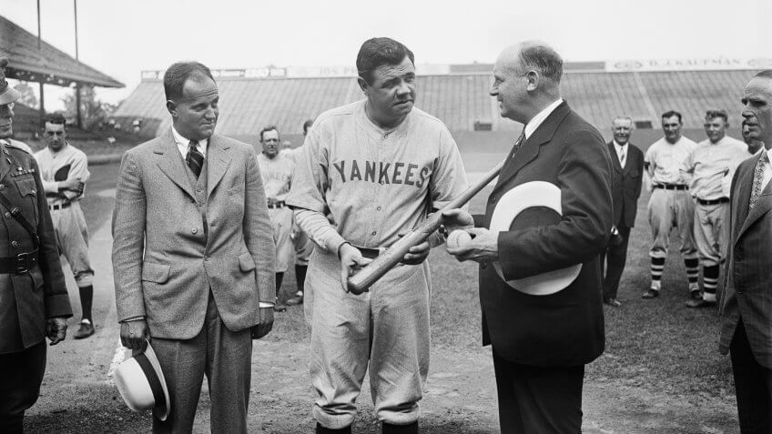 Babe Ruth New York Yankees highest paid athlete