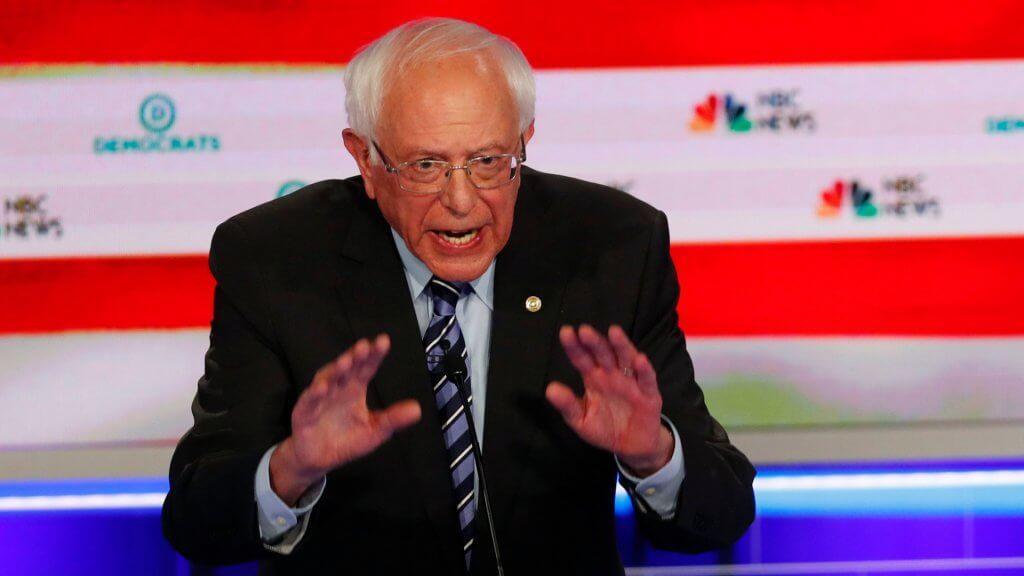 Mandatory Credit: Photo by Wilfredo Lee/AP/Shutterstock (10323334aw)Democratic presidential candidate Sen.