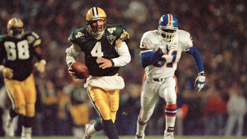 Brett Favre Green Bay Packers highest paid athlete