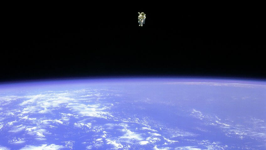 Bruce McCandless II 320 feet out in space
