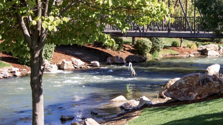 The beauty of the park in downtown Caldwell, Idaho - Image.
