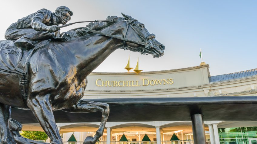 Churchill Downs in Louiville Kentucky tourist trap