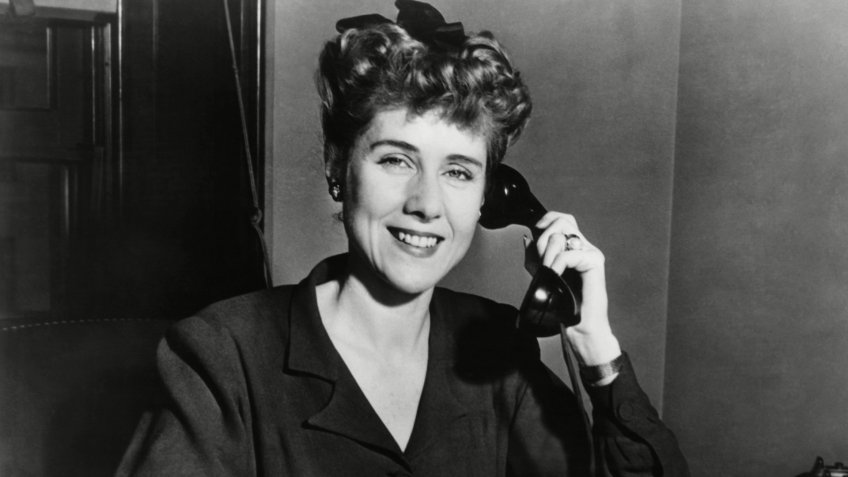 Mandatory Credit: Photo by Everett/Shutterstock (10304158a)Clare Booth Luce at desk, ca.