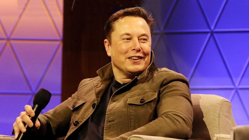 Elon Musk talks during the ' Elon Musk in Conversation with Todd Howard' Showcase panel
