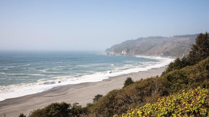 Eureka California coastline view