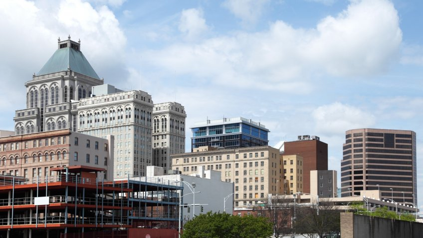 Downtown Greensboro, North Carolina.