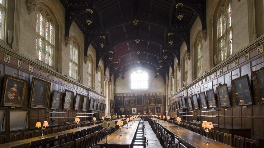 Hogwarts cafeteria from Harry Potter