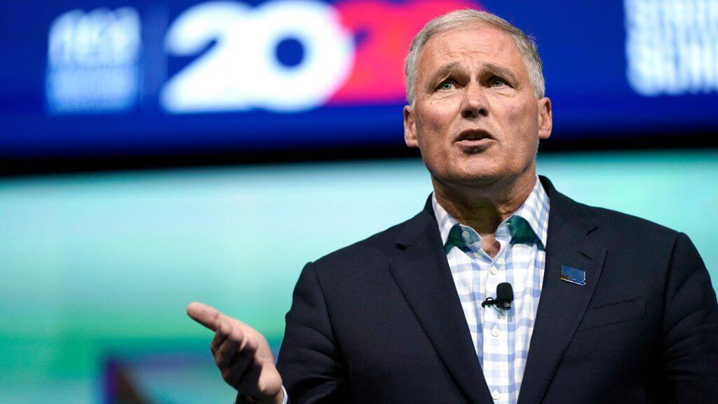 Mandatory Credit: Photo by David J Phillip/AP/Shutterstock (10328842c) Democratic presidential candidate Washington Gov.