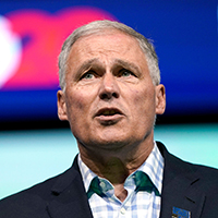 Mandatory Credit: Photo by David J Phillip/AP/Shutterstock (10328842c) Democratic presidential candidate Washington Gov.