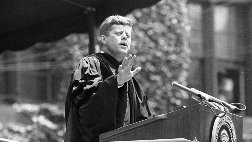 Mandatory Credit: Photo by AP/Shutterstock (5947793d)John Kennedy, JFK President John F.