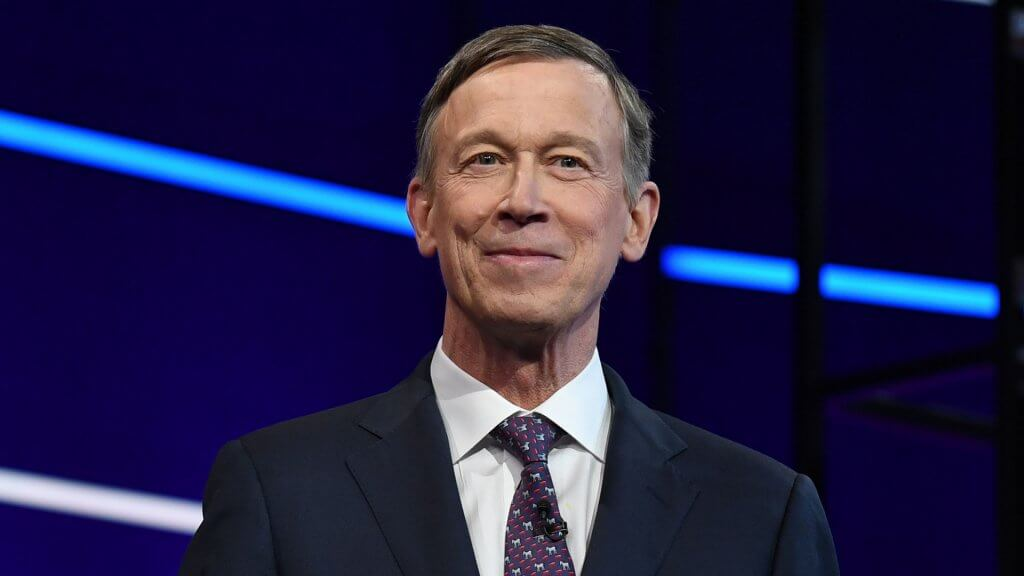 ALL NEW YORK DAILIES OUT Mandatory Credit: Photo by Larry Marano/Shutterstock (10323445ay) John Hickenlooper First Democratic Presidential Debate, Miami, USA - 27 Jun 2019.